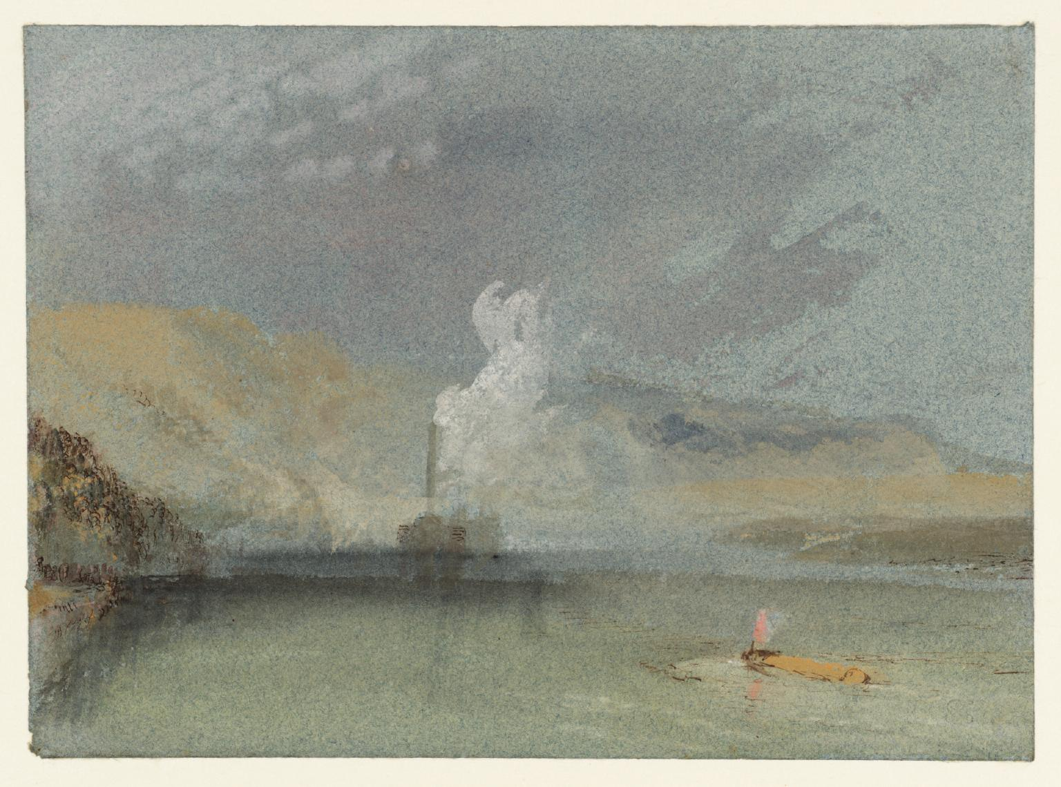 A Steamer and Shallow Waters in the Seine, Normandy c.1832 by Joseph Mallord William Turner 1775-1851