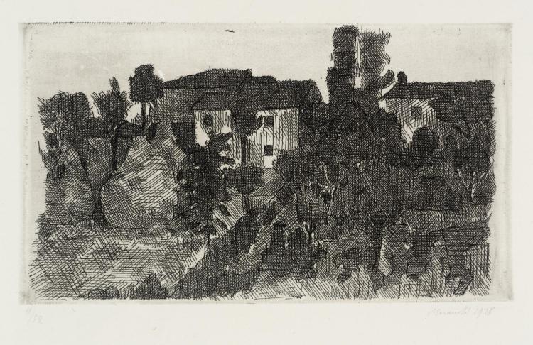 Hilltop at Evening 1928 by Giorgio Morandi 1890-1964