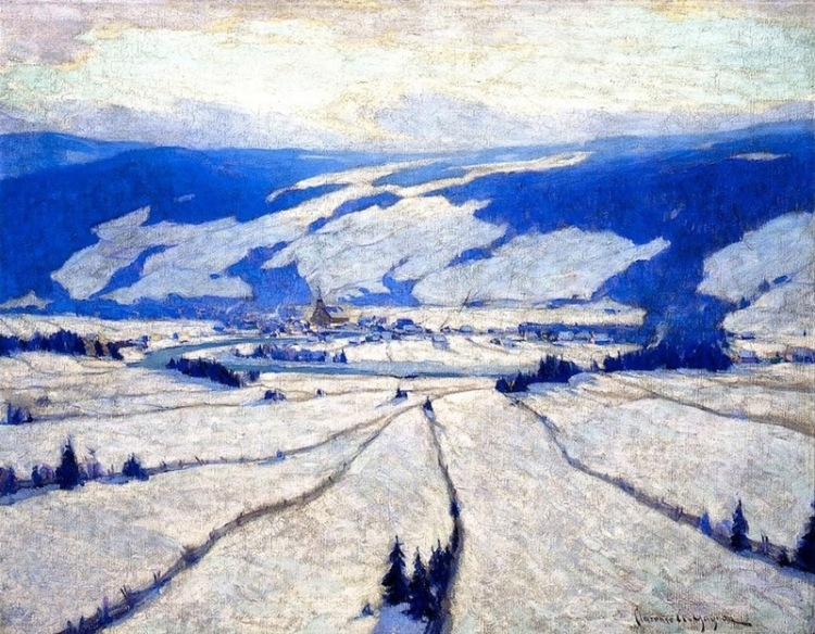 Clarence_Gagnon_-_The_Valley_in_December-1908