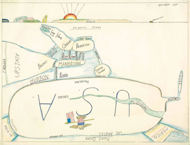 saul-steinberg-the-west-side-1973