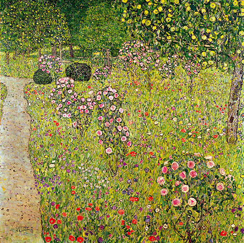 Orchard with Roses Gustav Klimt